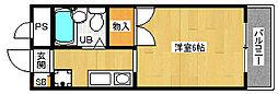 「ぼなーる東野」[3階]の間取り