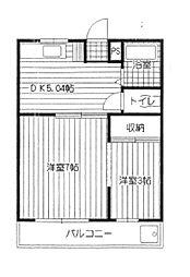 多摩マンション[3階]の間取り