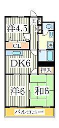 柏央ビル[4階]の間取り