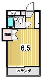 ハイツ茶山[205号室]の間取り