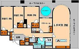グレンパーク梅田北[15階]の間取り