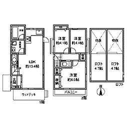 [一戸建] 神奈川県川崎市麻生区万福寺4丁目 の賃貸【/】の間取り