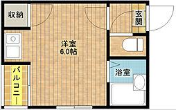 SKハイツ住之江[4階]の間取り