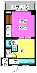 銀水ビル[2階]の間取り