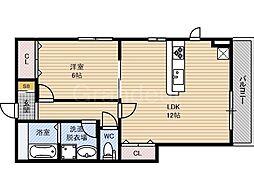 サンコート徳庵[2階]の間取り