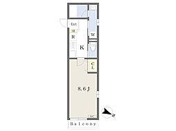 仮)世田谷区上馬4丁目・H計画 1階1Kの間取り