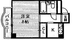 SAMSQUARE銀閣寺道[405号室号室]の間取り