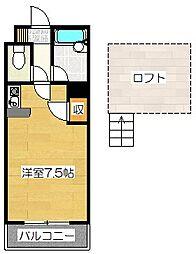 シティコート太宰府[206号室]の間取り