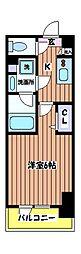 東京都立川市曙町2丁目の賃貸マンションの間取り