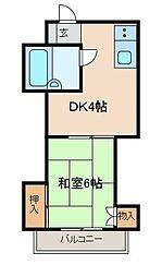 ドエル町田[2階]の間取り