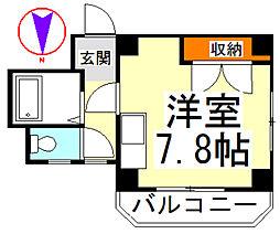 モデーロ花栗II[301号室]の間取り