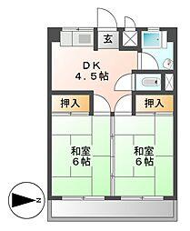 谷口ビル[4階]の間取り