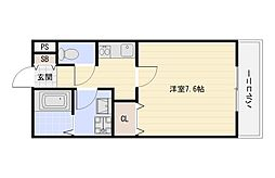 JR関西本線 平野駅 徒歩7分の賃貸アパート 1階1Kの間取り