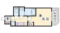 ファーストフィオーレ神戸駅前[2階]の間取り