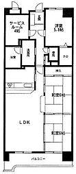 ロイヤルパレス博多[7階]の間取り