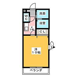 愛知県常滑市新田町3丁目の賃貸マンションの間取り