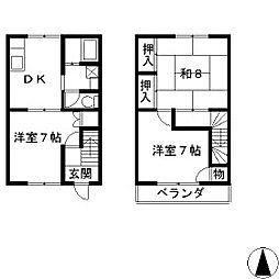 パインフィールド II[1階]の間取り