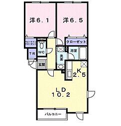 ヒルサイド福住[2階]の間取り