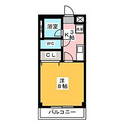 ピッコロハイツ[1階]の間取り