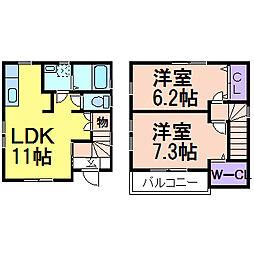 [一戸建] 栃木県鹿沼市茂呂 の賃貸【/】の間取り