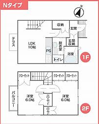 [タウンハウス] 千葉県市川市南大野2丁目 の賃貸【/】の間取り