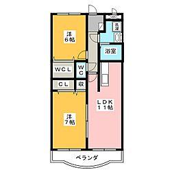シャルマン大西[3階]の間取り