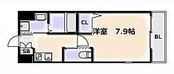 LIVIAZ NAMBA RENOM 2階1Kの間取り