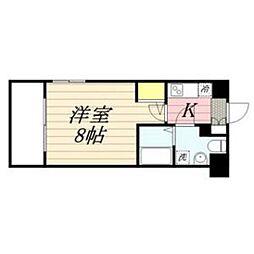 福岡県福岡市中央区警固1の賃貸マンションの間取り