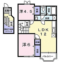 サニーサイド[2階]の間取り