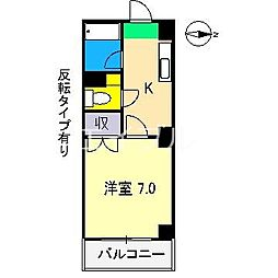 ウィステリア(桜井町)[6階]の間取り