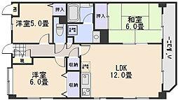 ハーモニー中須[7階]の間取り