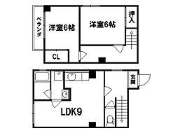 ハイツBARUKO[1階]の間取り
