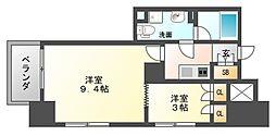 パークレジデンシャル博多[6階]の間取り