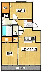 LA MER[302号室号室]の間取り