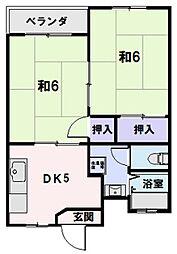 サンスカイまことマンション[203号室]の間取り