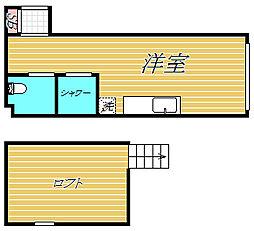 東京都目黒区中央町2丁目の賃貸アパートの間取り