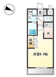 高松琴平電気鉄道琴平線 太田駅 徒歩34分の賃貸アパート 1階1Kの間取り