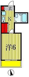 クリオ北松戸壱番館[2階]の間取り