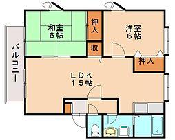 ティアラ飯田[2階]の間取り