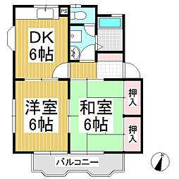 メゾン滝沢[2階]の間取り