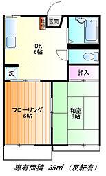 みどりハウス[1f号室]の間取り