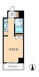 ポルタキアーラ[6階]の間取り