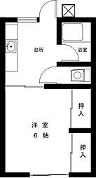 コーポクラモチ[2階]の間取り