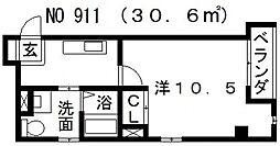 パラード天王寺[902号室号室]の間取り