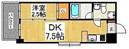 ルネッサンス21赤坂けやき通り[9階]の間取り