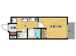 SHICATA SIX BLDG[804号室]の間取り