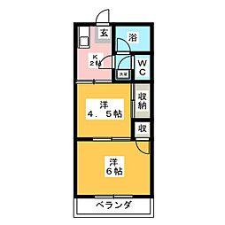 リバーシティー21[2階]の間取り