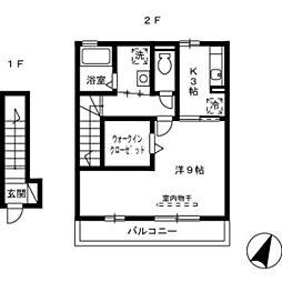 広島県広島市南区皆実町4丁目の賃貸アパートの間取り