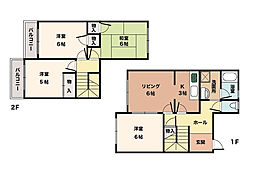 [タウンハウス] 兵庫県神戸市西区池上5丁目 の賃貸【兵庫県 / 神戸市西区】の間取り