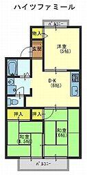ハイツファミール[1階]の間取り